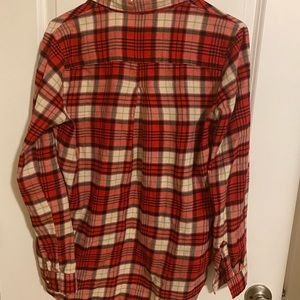 H&M Tops - h&m red plaid button up top